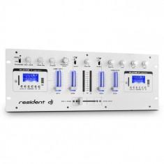 Resident DJ DJ405USB rezident dj, alb, DJ mixer cu patru canale, 2 x bluetooth, USB, SD, AUX, funcție de înregistrare