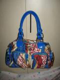 Geanta textil/ piele Merry, designer, Multicolor, Medie