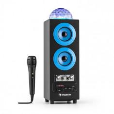 Auna Discostar albastruportabil 2.1 Bluetooth Speaker USB SD FM AUX LED Jelly Ball baterie portabila incl. Microfon