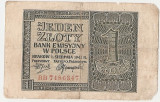 POLONIA 1 ZLOTY ZLOT 1941 U