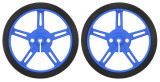 Pereche de Roţi Pololu 60 x 8 mm - Albastre