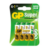 Set de 5 Baterii Super Alcaline GP LR6 / AA