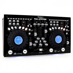 Ibiza Consolă DJ Full-Station CD/MP3 Player Scratch Mixer