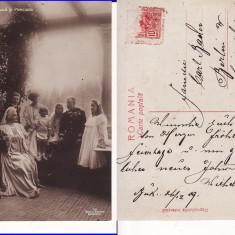 Casa Regala - Regele Carol I, Ferdinand, Regina Maria, Elisabeta-  rara