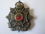 Rar! Semn arma/cuc cascheta ofiter britanic Regimentul de frontiera China WWII, Europa