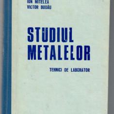 Studiul metalelor. Tehnici de laborator