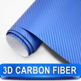 Rola folie carbon 3D albastra cu tehnologie de eliminare a bulelor de aer
