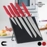 Cutite cu Suport Magnetic Bravissima Kitchen (6 piese)