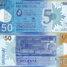 Uruguay 50 Pesos 2017 Polimer Comemorativa UNC