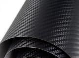 Rola folie carbon 3D neagra cu tehnologie de eliminare a bulelor de aer 10X1.5m
