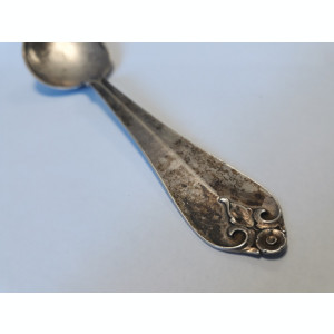 LINGURI SUPA argint 6 BUCATI set VECHI DANEMARCA marcaj TREI BISERICI masive