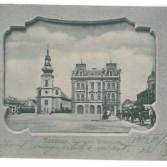 4059 - TIMISOARA, Market, Romania - old postcard - used - 1904, Circulata, Printata