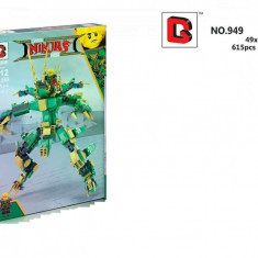 SUPER ROBOT TRANSFORMABIL NINJA, PIESE TIP LEGO 615PCS SI PERSONAJE DRAGO NINJA!, Plastic, Unisex
