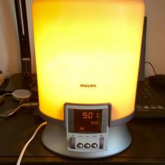 Lampa veioza Philips HF 3463 Wake-Up Light,radio,ceas,alarma