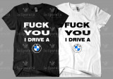 Tricou DRIVE A BMW, L, M, S, XL, XXL, Maneca scurta, Alb, Negru