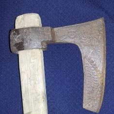 Barda antica de muzeu,Antichitate,Secure de lupta,gravata manual ,Transp.GRATUIT