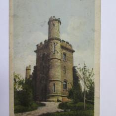 Carte postala Craiova circulata 1924/Turnul din parcul Bibescu, Printata