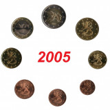 Finlanda setul 8 monede 1 cent - 2 euro 2005 - UNC, Europa