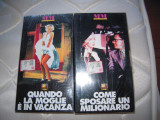 LOT de 2 casete video VHS originale cu Marilyn Monroe, SIGILATE, aduse Italia