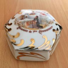 Cutie bijuterii - portelan frantuzesc - Limoges - polieta cu aur 24k - 1955