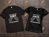 Tricou IUBIT-IUBITA, L, M, S, XL, XXL, Maneca scurta, Alb, Negru