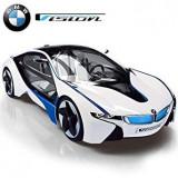 SUPER MASINUTA TELECOMANDATA BMW i8 VISION,R/C VOLAN,LUMINI LED 3D.SCARA 1:14., Electrice, Plastic, wow