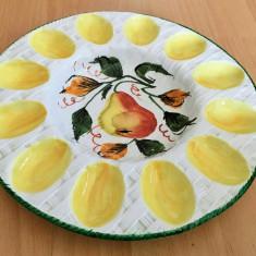 Platou pentru oua / compartimentat - ceramica - Italia - 12 oua