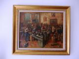 """Paul CONSTANTINESCU(1909-1975)""""Epoca de aur"""" ulei pe panza- 80x70 cm- restaurat, Scene gen, Altul"""