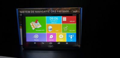 Sistem de navigatie GPS + DVR PNI S906 ecran 7 inch cu Android 6.0, harti Here foto