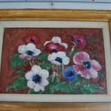 Tablou pictura semnat Sever Burada (1896 - 1968) - Panselute, Natura, Ulei, Impresionism