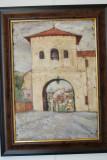 Tablou pictura semnat Lucia Rechenberg, evreica Romania, 1928
