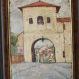 Tablou pictura semnat Lucia Rechenberg, evreica Romania, 1928, Natura, Ulei, Impresionism