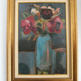 Tablou pictura semnat Lucia Piso Ladea (1914 - 1972) - Flori, Natura, Ulei, Impresionism