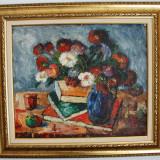 Tablou pictura semnat Stanciu Victor (1910 - 2003) - Flori, Natura, Ulei, Impresionism