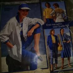 Revista/Catalog moda femei-barbati-copii,mobila,desing,QUELLE 1983,T.GRATUIT
