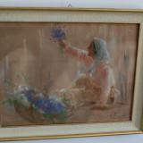 Tablou pictura semnat Ghelman Lazar, evreu Romania - Florareasa, Natura, Ulei, Impresionism
