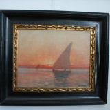 Tablou pictura semnat Dimitrie FLORIAN (1899 - 19, Natura, Ulei, Impresionism