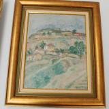 Tablou pictura semnata Iosif Vass (WASS) - Piesaj din Balcik / Balcic 1935, Natura, Ulei, Impresionism