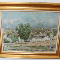 Tablou pictura semnat C.C.Constantinescu (Ali Baba) - Peisaj la Ciurel, Natura, Ulei, Impresionism