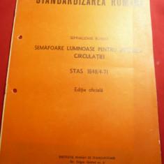 Semnalizarea Rutiera- Semafoare -STAS 1971- Standardizarea Romana