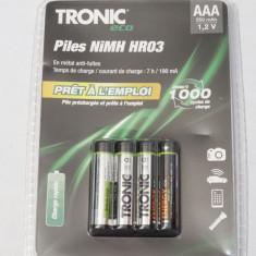 Acumulatori Tronic R3 AAA HR03 950 mAh 1.2V set 4 bucati - sigilati - acumulator