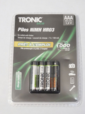 Acumulatori Tronic R3 AAA HR03 950 mAh 1.2V set 4 bucati - sigilati - acumulator foto