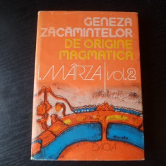 Geneza zacamintelor de origine magmatica – I. Marza
