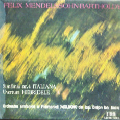 Mendelssohn Bartholdy-Simfonia 4-Ion Baciu Electrecord vinil vinyl