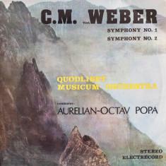 Weber-symphony 1 si 2-Aurelian Octav Popa-Electrecord vinil vinyl