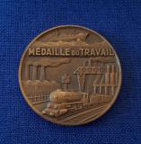 Medalie Caile ferate - tema feroviara - marina - industrie - medalia muncii
