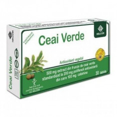 Ceai verde 500 mg 30 cpr Helcor Pharma