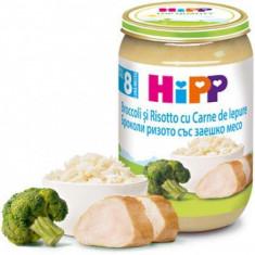 Piure Bio din Risotto si broccoli cu carne de iepure pentru bebelusi 220g HiPP