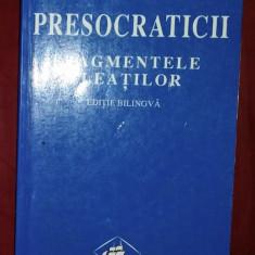 Presocraticii  : fragmentele eleatilor ed. bilingva greaca-romana tr. D. Pippidi