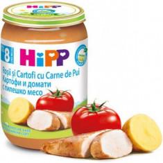 Piure Bio din Rosii si cartofi cu carne de pui pentru bebelusi 220g HiPP